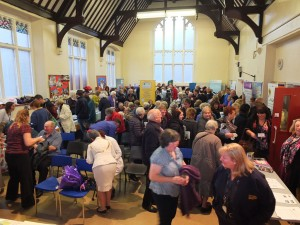 The launch of Woolton Community Life in November 2014 at St James' church hall